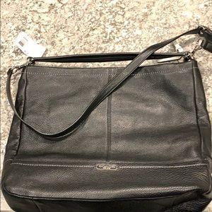 NWT Coach Black Leather Hobo Bag